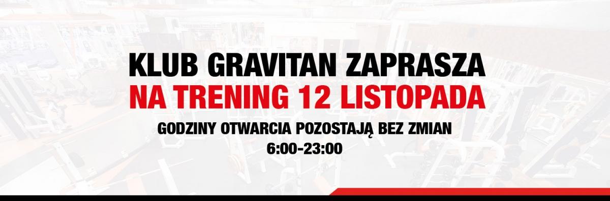 Jesteśmy otwarci 12 listopada!