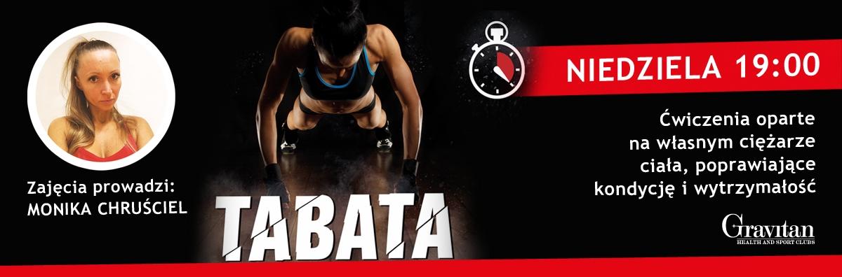 Niedzielne zajęcia p godz. 19:00 z TABATA prowadzi Monika Chruściel.